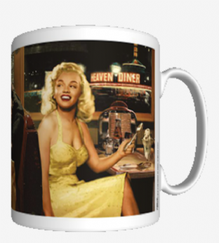 MARILYN MONROE - BLUE PLATE SPECIAL (CHRIS CONSANI) - MUG (11oz) (Brand New In Box)